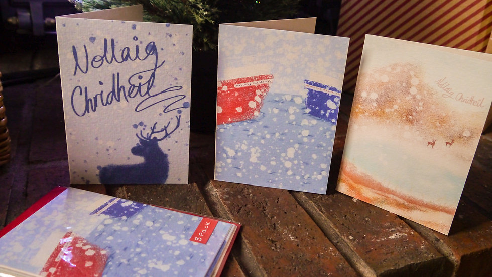 Gaelic Christmas Cards Pack of 3