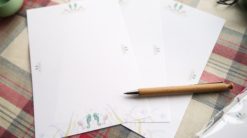 Luxury Writing Paper - Seahorse Edition - Pack of 10