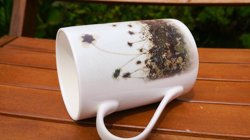 Flower Field Fine Bone China Cup - Green Summer