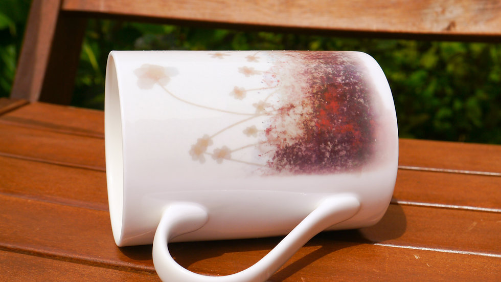 Flower Field Fine Bone China Cup - Purple Mist