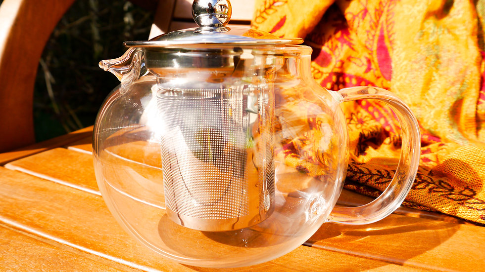 Tea for Two Glass Teapot Strainer