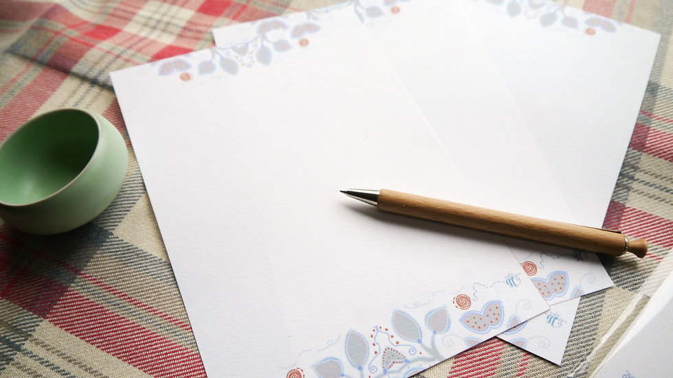 Luxury Writing Paper - Garden Edition - Pack of 10