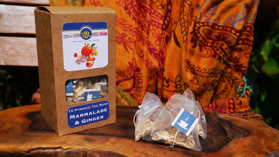 Marmalade & Ginger Pyramid Tea Bags