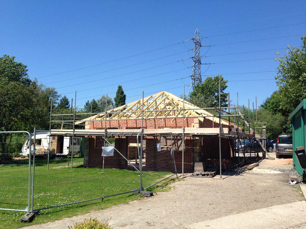 Trusses up