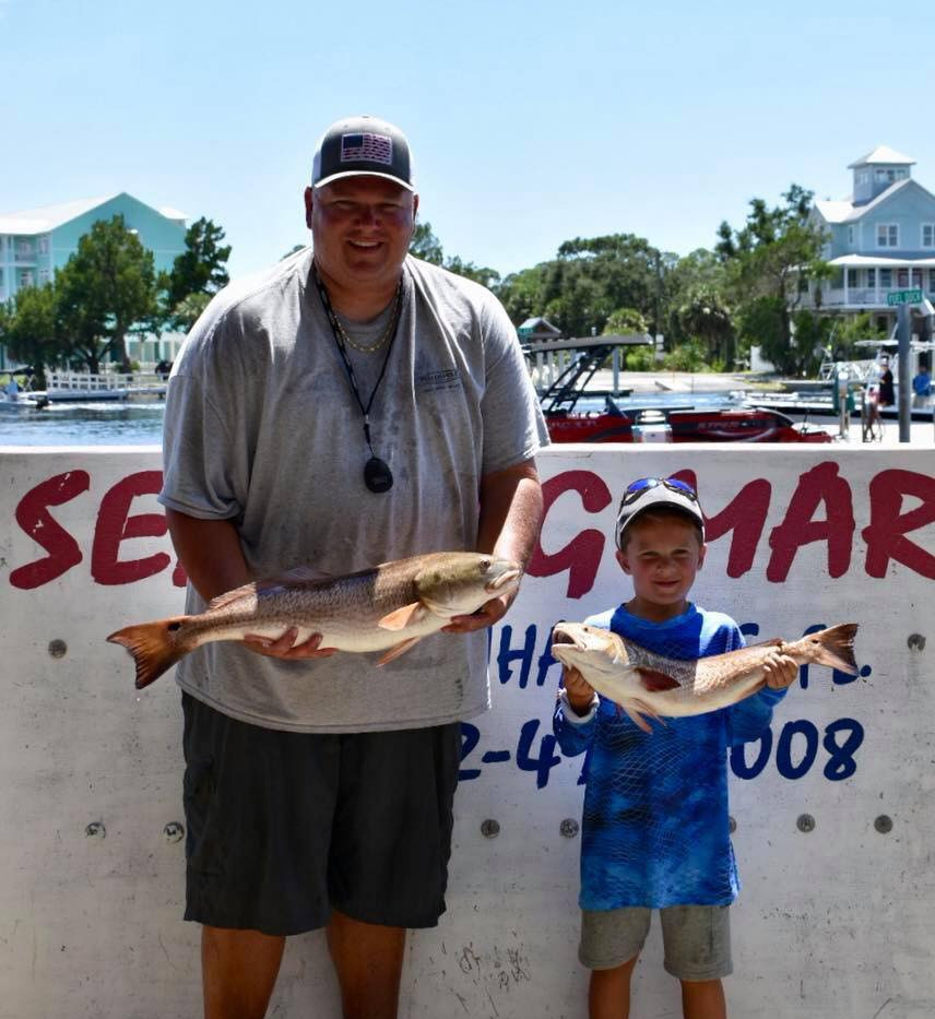 Heaviest Red Fish - 2nd Place - Dewey Ho