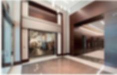interior of headquarters building elevators
