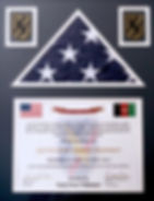 """Flown in Honor of Kevin and Debra Frieden. """"So tha all shall know this flag was flown in the face of the enemy over Camp Phoenix, Kabul Afghanistan...please read certificate. We were so humbled when we recieved this from a friend who puts his life on the line to protect our freedom."""
