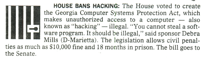 Georgia Computer Systems Protection Act