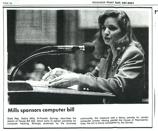 Marietta Daily Journal Mills Sponsors Computer Bill