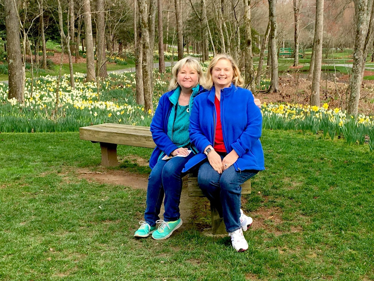 Best friend Joan and Debra visit Gibbs Gardens