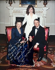 Debra with Governor Zell Miller and First Lady of Georgia Shirley Miller