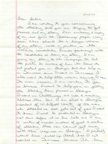 Stalking Crime Bill Citizen Letter Pg 1
