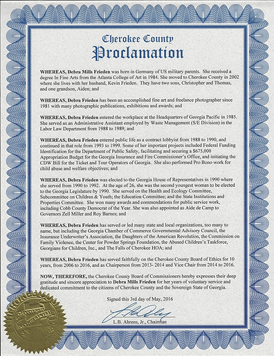 Cherokee County Proclamation