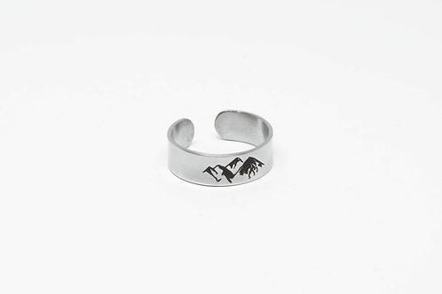 """Кольцо """"Горы"""" из стали, 7 мм"""
