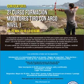 2ª versión Curso formación de Monitores Nivel 1 Arqueros de Chile.