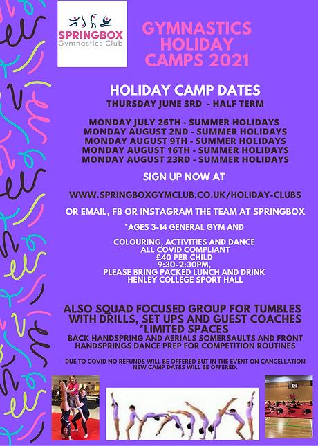 Holiday camp poster may half and summer