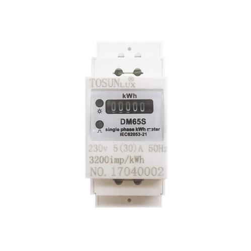 Medidor de energía análogo monofásico 220V 5-30A DM65S Tosun