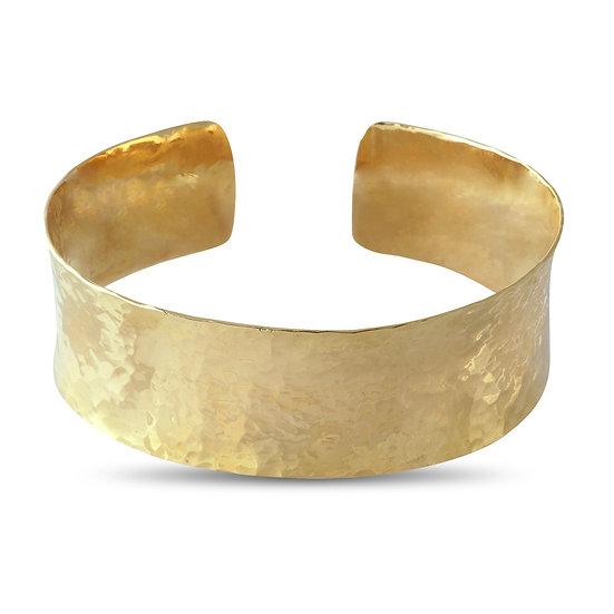 HAMMERED CUFF - 18 KARAT YELLOW GOLD