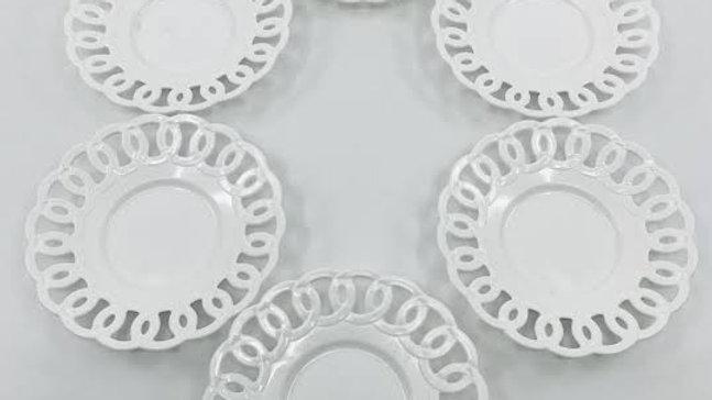 Plastik 6 lı çay tabağı