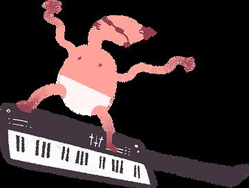 Tastatur-Baby