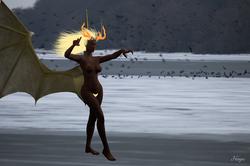 Démone sur la Liez gelée