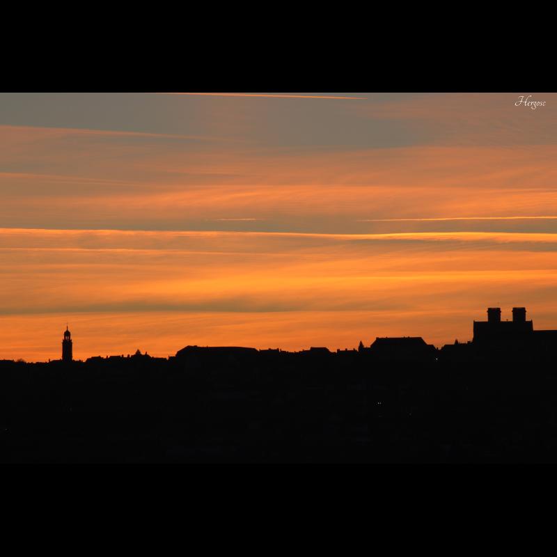 Coucher de soleil sur Langres 1