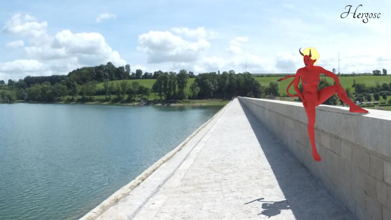 Demone sur le lac de la Liez