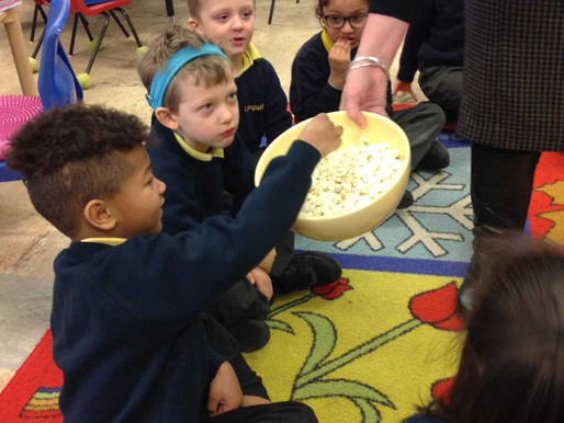 This morning in English, Year 1 Buttercups were exploring the 'p' sound. We had lots of fun