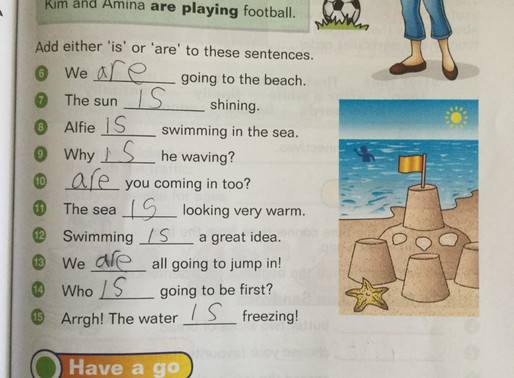 Pupils in Hummingbird class have been very busy completing their English work. Well done !