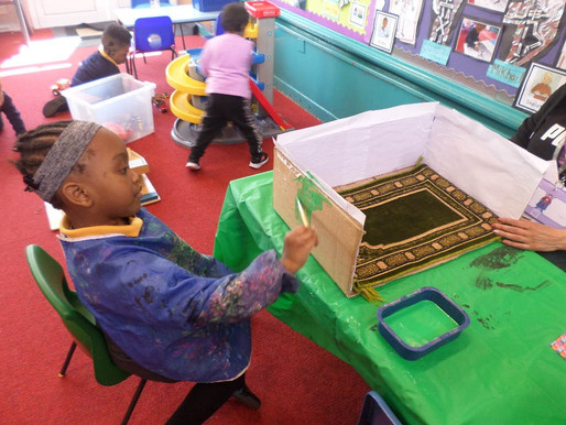 Bear Class pupils learn through play and are having so much fun!