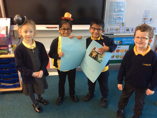 Year 1 (Dolphins) have enjoyed retelling the story of 'Lost and Found'.