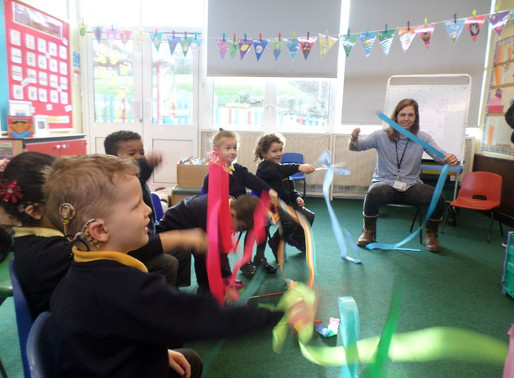 Foundation Swans had a wonderful music lesson with Gemma this morning (Rights of the Child Article 3