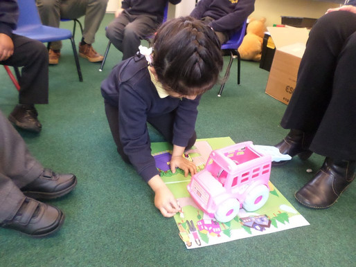 Foundation pupil (Swans) had their first Foundations for Literacy lesson this morning.