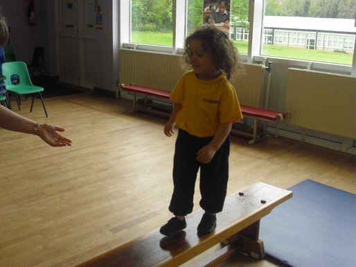 Foundation (Lilies class) had lots of fun today in PE completing an obstacle course!