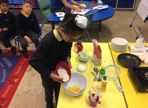 Year 2 Puffins enjoyed making and eating pancakes for Shrove Tuesday today.