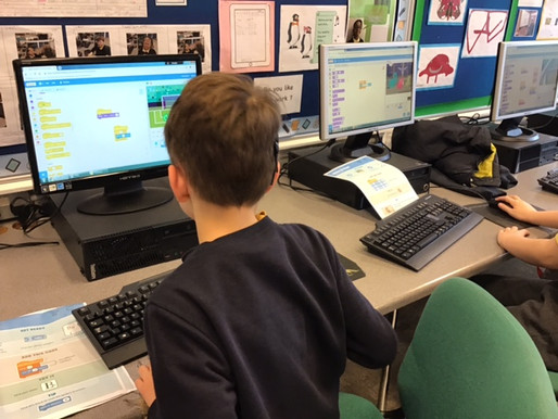Today STEM club started to develop their coding skills by animating their names on the Scratch platf