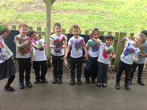 """This morning, Year 1 learnt all about the Hindu festival of Holi. This is also known as """"The Fe"""