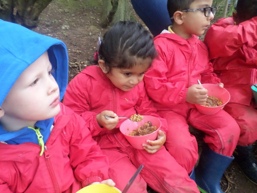 Foundation Swans have had a lovely time in Forest School making jambalaya (Rights of the Child Artic