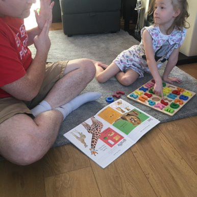 This girl in Swan class has been busy doing some Literacy work with her Dad.