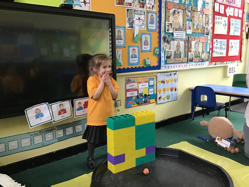 England Class (Foundation) had an 'eggciting' time trying to keep Humpty safe…