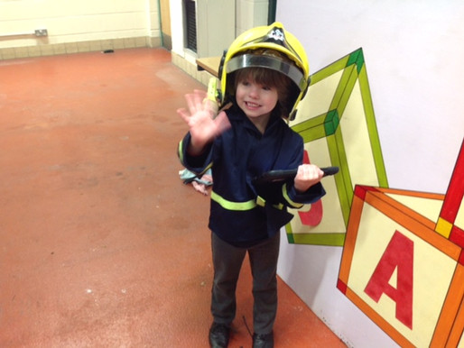 Foundation children enjoyed their visit to see the Fire Fighters at Safeside