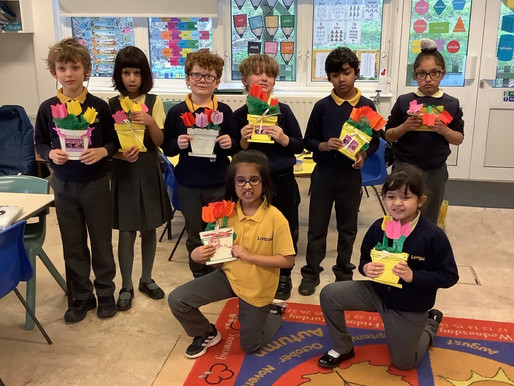 Year 3 made some lovely cards for their mommies for Mother's Day.
