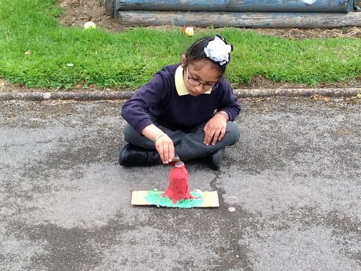 Bubble 5 had lots of fun in school last week, making Volcanoes!