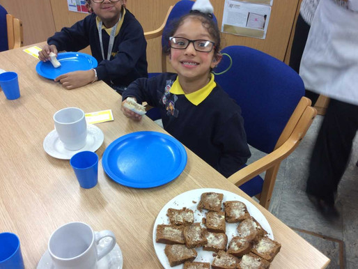 One pupil from each class received a 'Golden Ticket' to attend the Headteachers Tea Party in