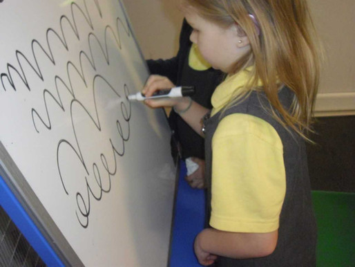 Foundation (Lilies class) have been learning a new Write Dance called 'Horses and hares'.