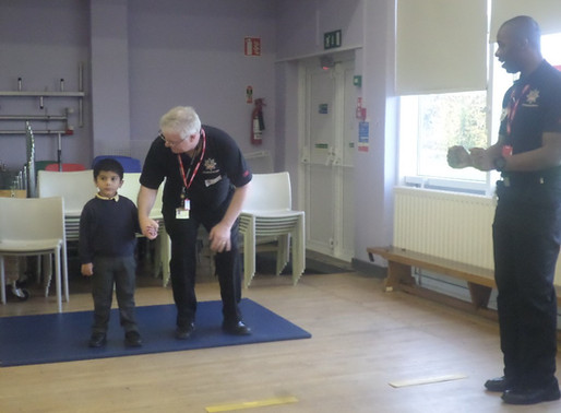 Foundation Swans have been learning how to cross the road safely from some special visitors.