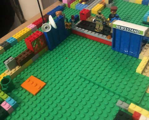 These brothers have been busy making a village out of their LEGO. Very creative!