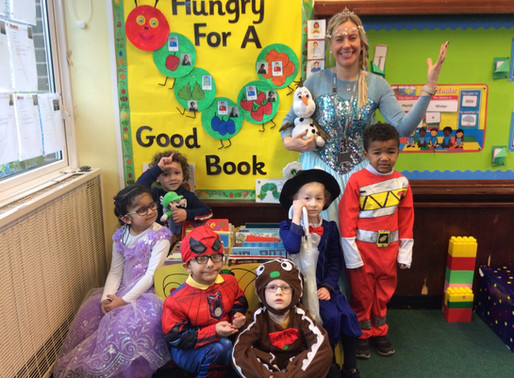 The staff and children in foundation, really enjoyed 'World book day'.