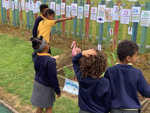 Foundation pupils are so proud of the garden which they have created for the school's annual....
