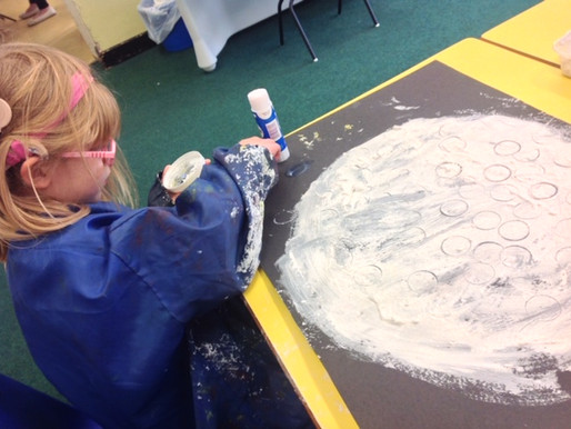 Lilies Class ( Foundation) loved sharing the story of Chapatti Moon and making their own moons!